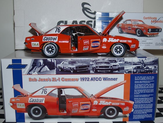 Image of CHEV CAMARO #76. 1972 ATCC WINNER. BOB JANE. NEVER OPENED.