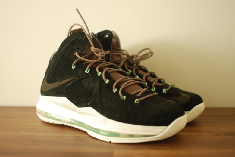 Image of Nike Lebron X EXT Black Suede