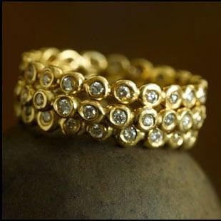 Image of 18K Diamond Bezel Rings