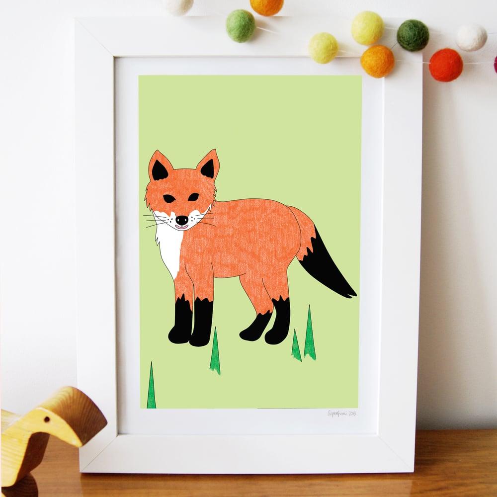 Image of Fox Cub Art Print