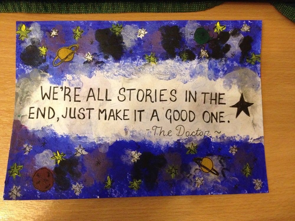 Image of DOCTOR WHO QUOTE ACRYLIC CUSTOM PAINTING