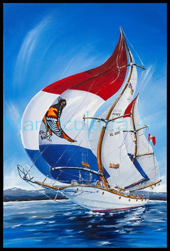 Image of HMCS Oriole Limited Edition Canvas Giclee
