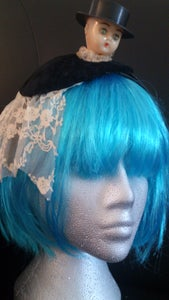 Image of Lace n Velvet Fascinator