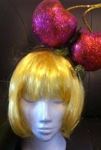 Image of Pink Cherries Glitter Head piece