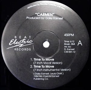 Image of CARMEN - Time To Move - Beat Electric 12""