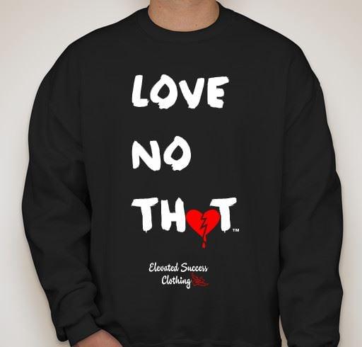 """Image of Black """"Love No Thot"""" Crew Neck"""