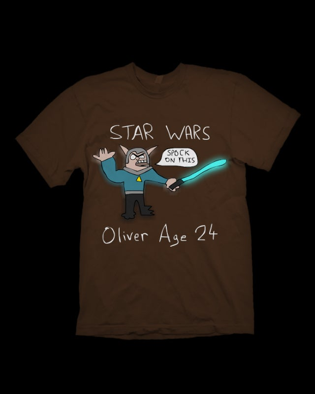 Image of Spock From Star Wars T-Shirt