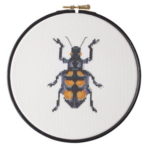 Image of Orange Beetle cross-stitch PDF pattern
