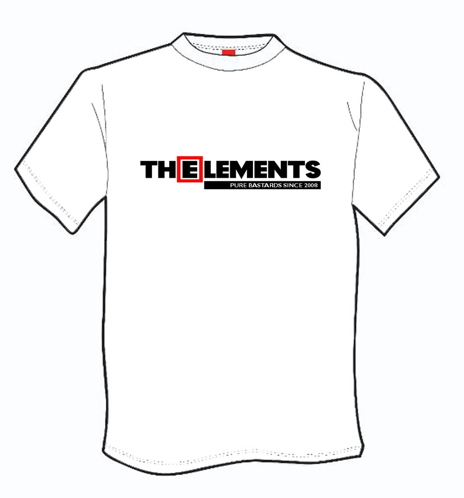 Image of T-shirt WHITE The Elements pure bastards