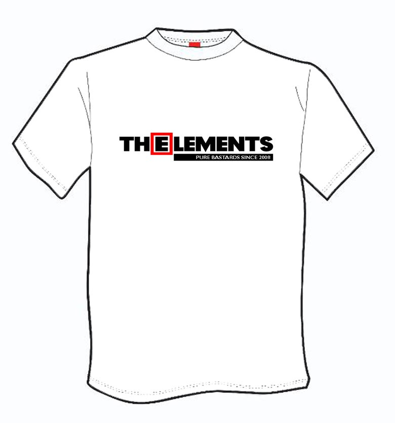 Image of T-shirt WHITE The Elements pure bastards