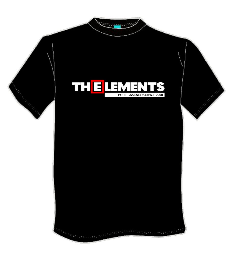 Image of T-shirt BLACK The Elements pure bastards