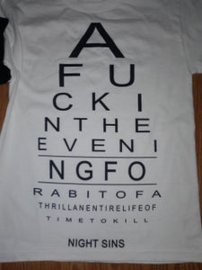 "Image of ""A fuck in the evening"" Shirt"