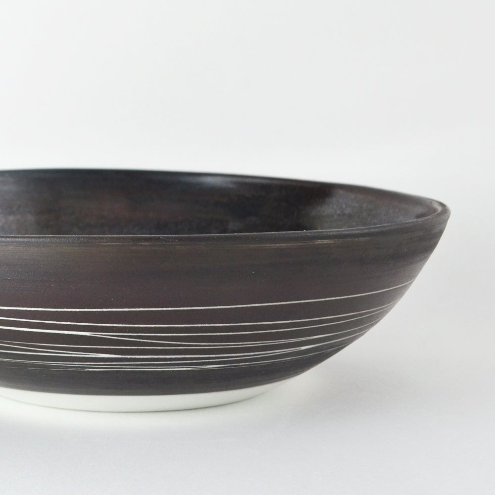 Image of large black and white porcelain bowl