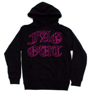Image of FAG OUT HOODIE (BLK/PNK)