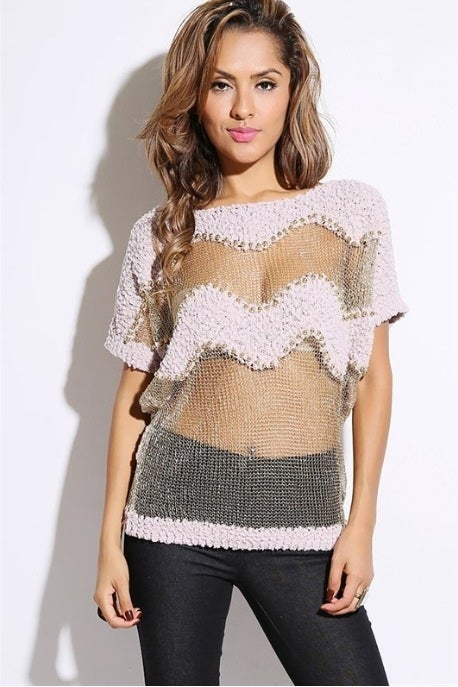 Image of Bejeweled knit sweater top