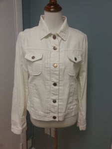 Image of J Crew  Destresed White Jean Jacket