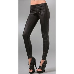 Image of Ladies - faux leather leggings