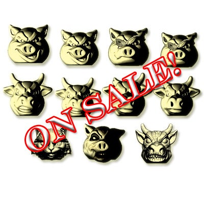 Image of FULL SET - Pigs vs Cows - GOLD! Exclusive color!