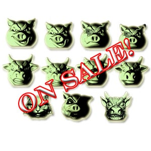 Image of FULL SET - Pigs vs Cows - Glow In the DARK! Exclusive Color!