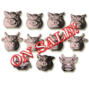 Image of FULL SET - Pigs vs Cows - FLESH - SOLD OUT!