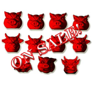 Image of FULL SET - Pigs vs Cows - RED! Exclusive Color