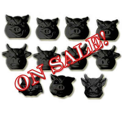 Image of FULL SET - Pigs vs Cows - BLACK - Exclusive Color!