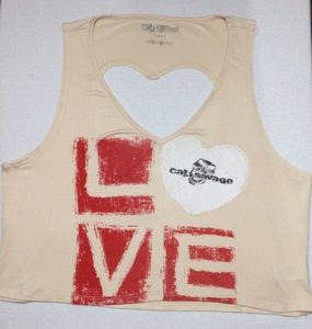 Image of Ladies - Cut out heart crop top
