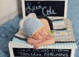 Image of Chalkbord Newborn Prop Doll Bed