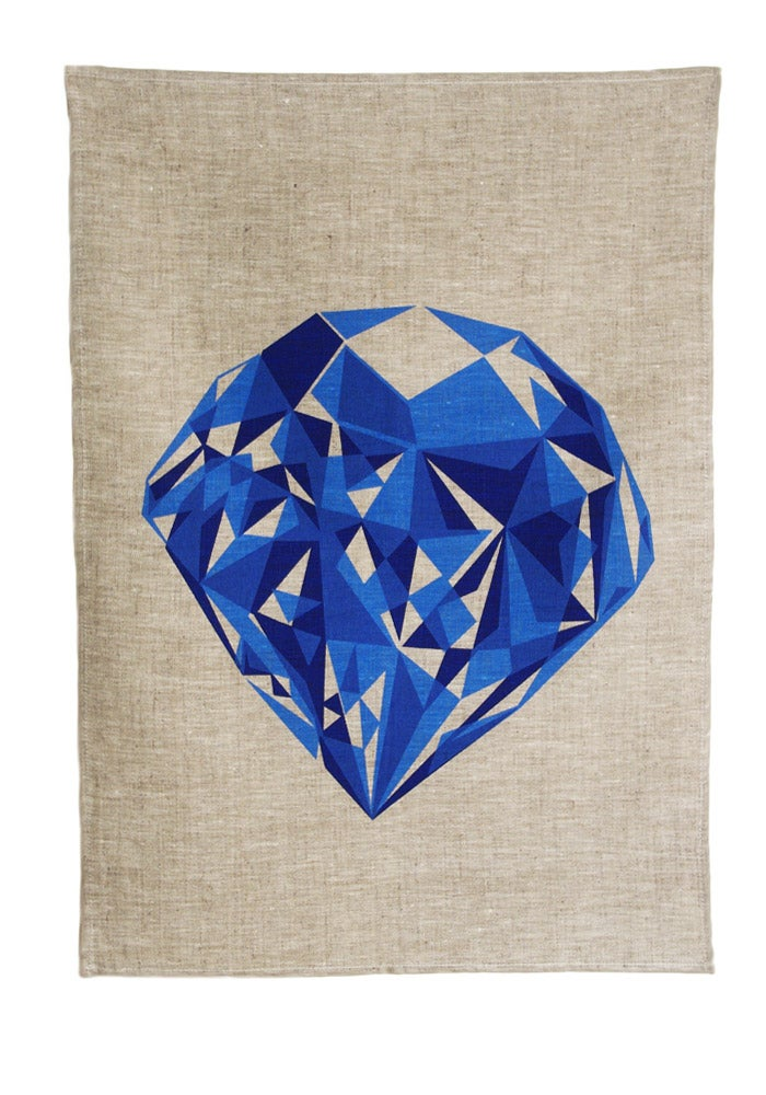 Image of Blue Diamond Tea Towel
