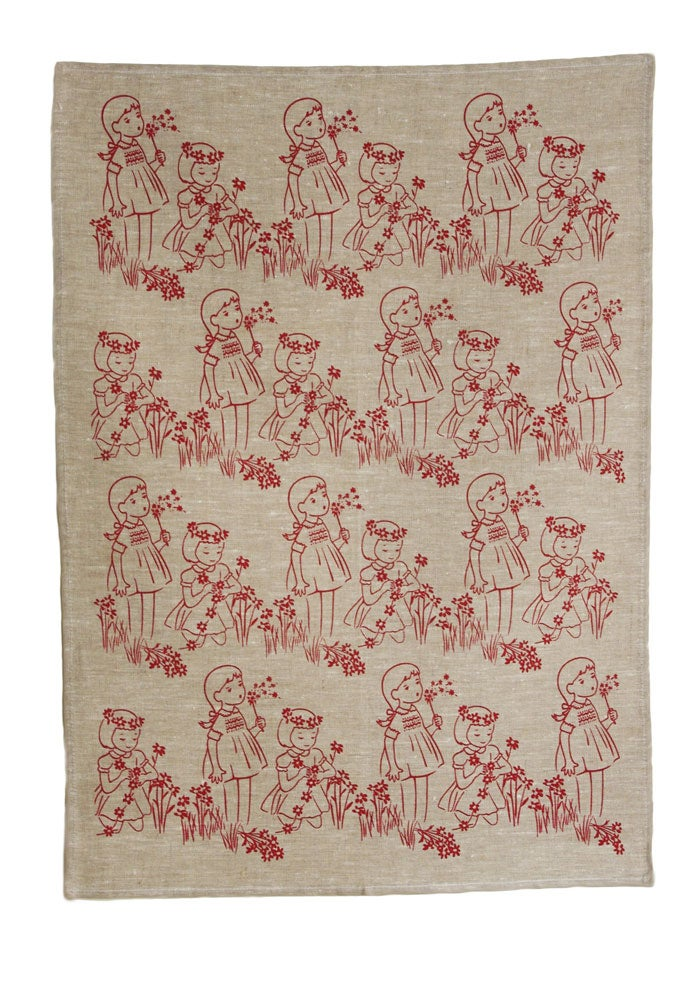 Image of Daisy Chain Tea Towel