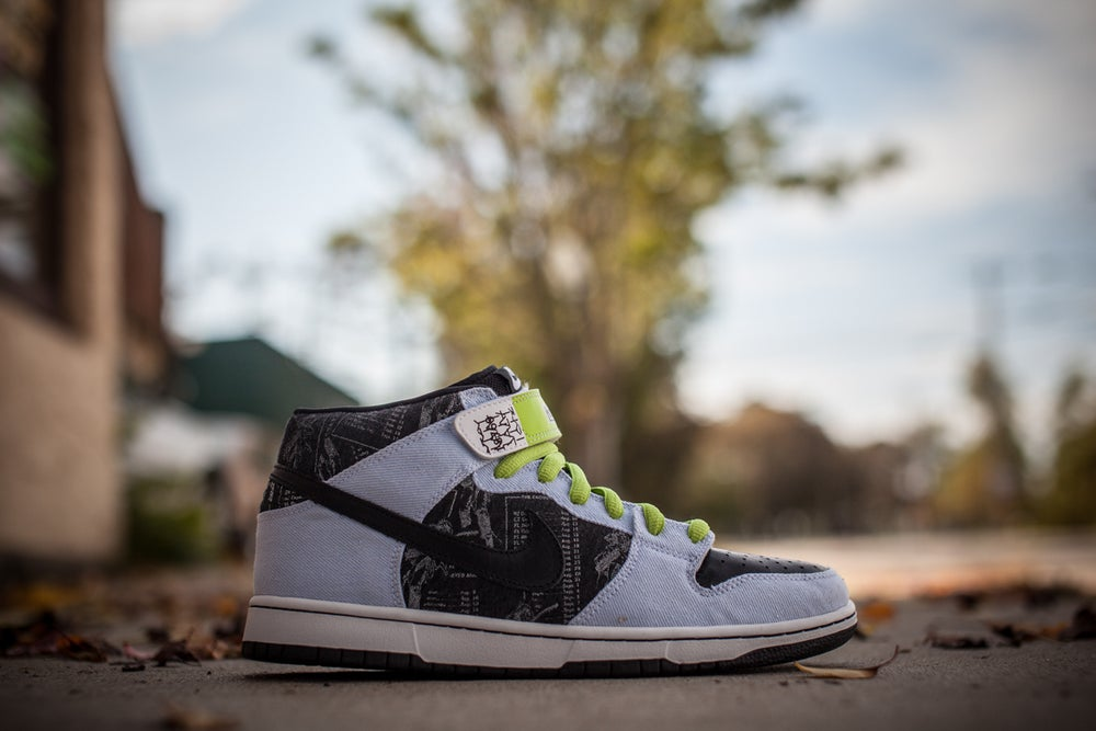 "Image of Nike Dunk Mid Premium SB ""Heavy Mental"""