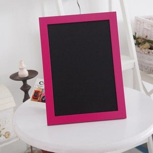 Small Chalkboard with Pink/Black Frame
