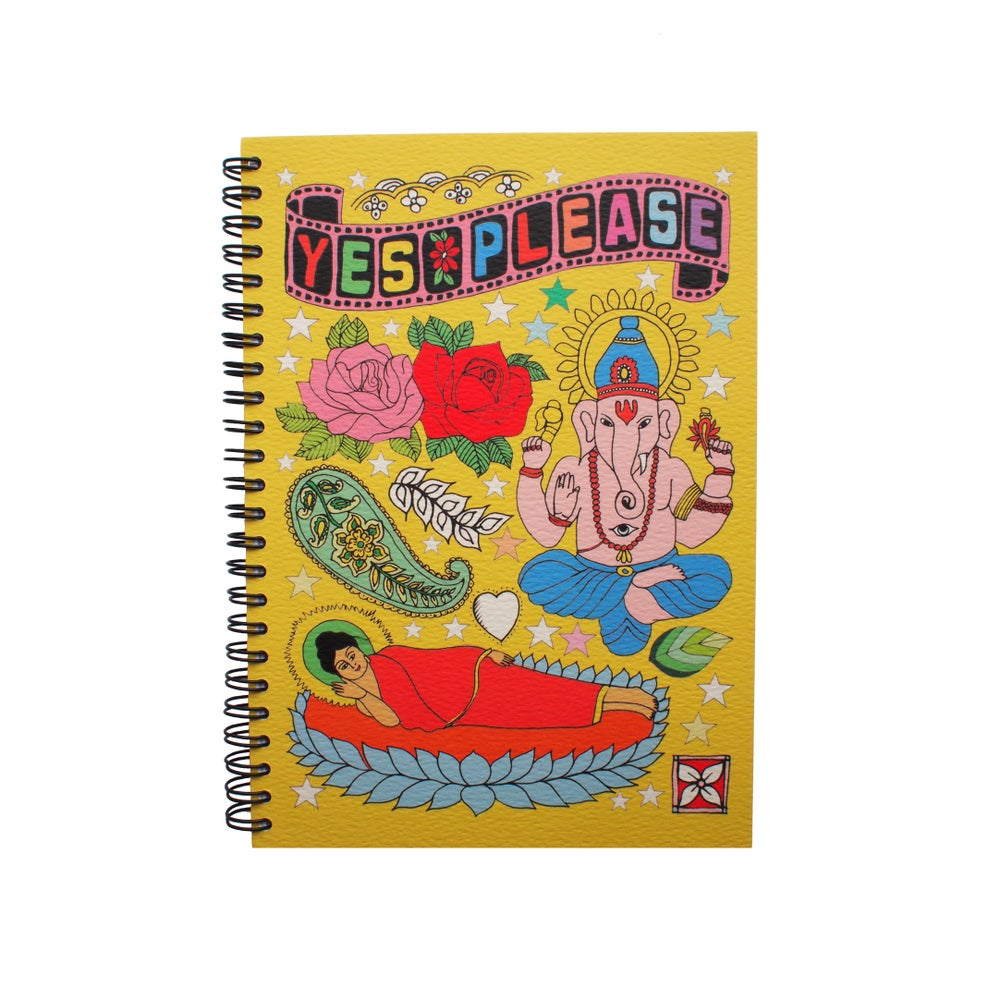 Image of Tattoo Notebooks, Ganesh, Guitar, Dino, Mermaid Designs