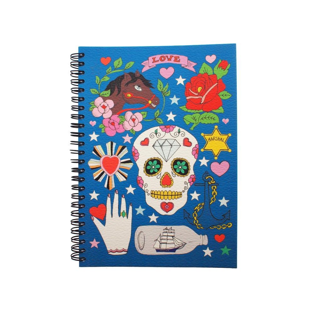 Image of Tattoo Notebooks, Skull + Unicorn