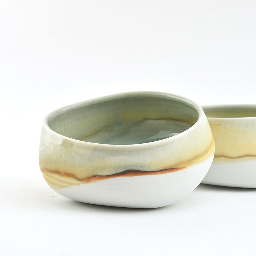 Image of set of 2 pouch bowls - yellow