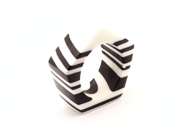 Image of Zebra Striped Bangle