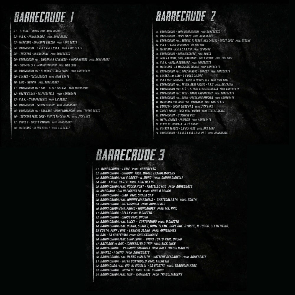 """BARRECRUDE MIXTAPE TRILOGY"""