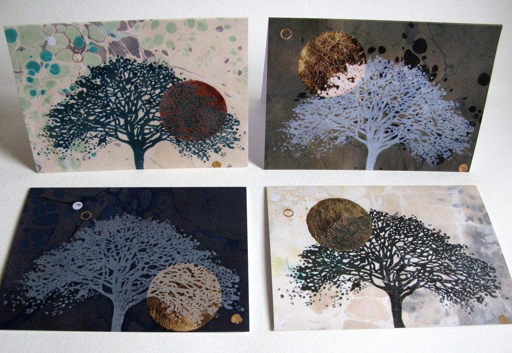 Image of Set of 4 greeting cards - The Oak Series