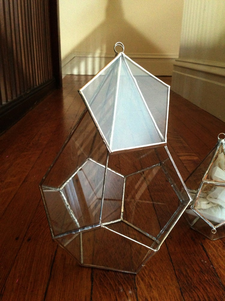 Image of Teardrop Terrarium Kit, large hinged