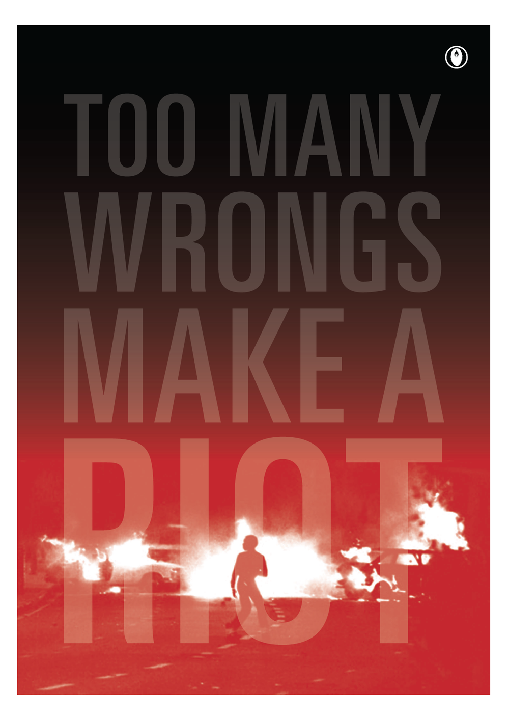 Image of 'TOO MANY WRONGS MAKE A RIOT'
