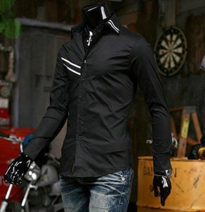 Image of Ribbed Stripe Design Shirt