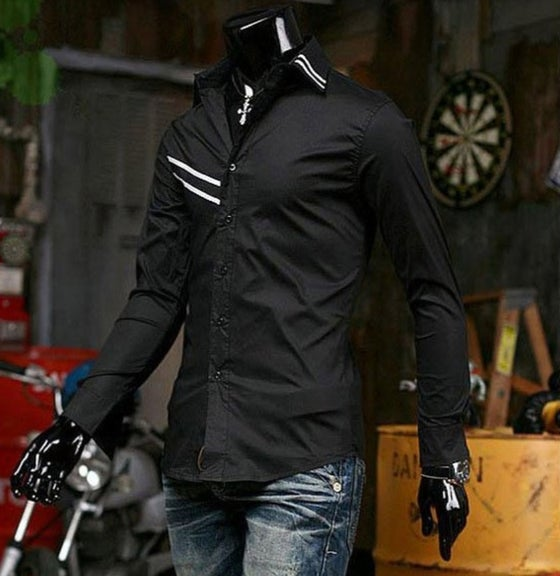 Image of Ribbed Stripe Design Shirt