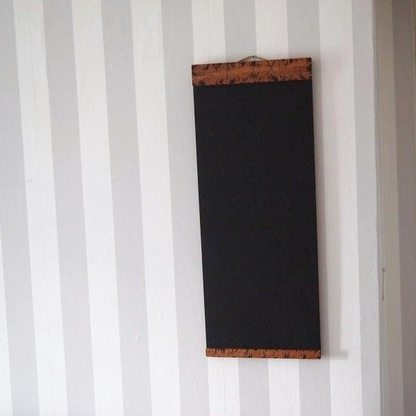 Chalkboard with Top and Bottom Burnt Wooden Border