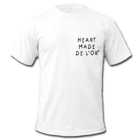 "Image of ""Heart Made Of Gold"" Logo T-Shirt (Blanc)"