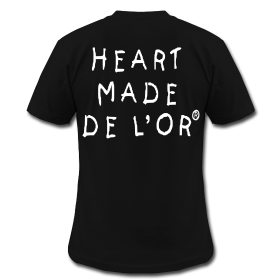 "Image of  ""Heart Made Of Gold"" Logo T-Shirt (Noir)"
