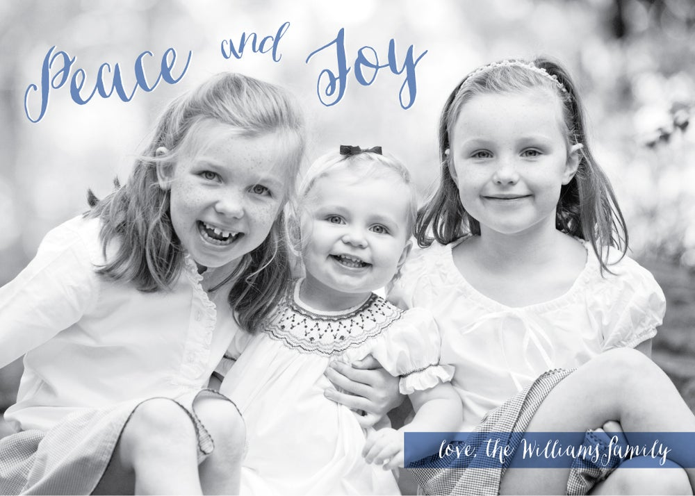 Image of Peace & Joy Holiday Card