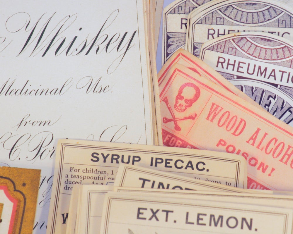 Image of Antique Product Labels