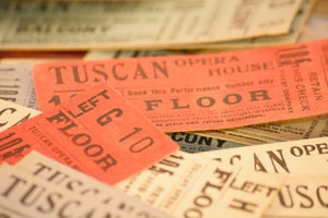 Image of Antique Admission Tickets