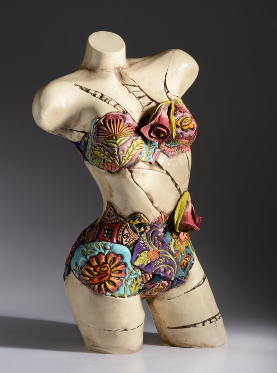Image of Two Piece Bathing Suit Torso