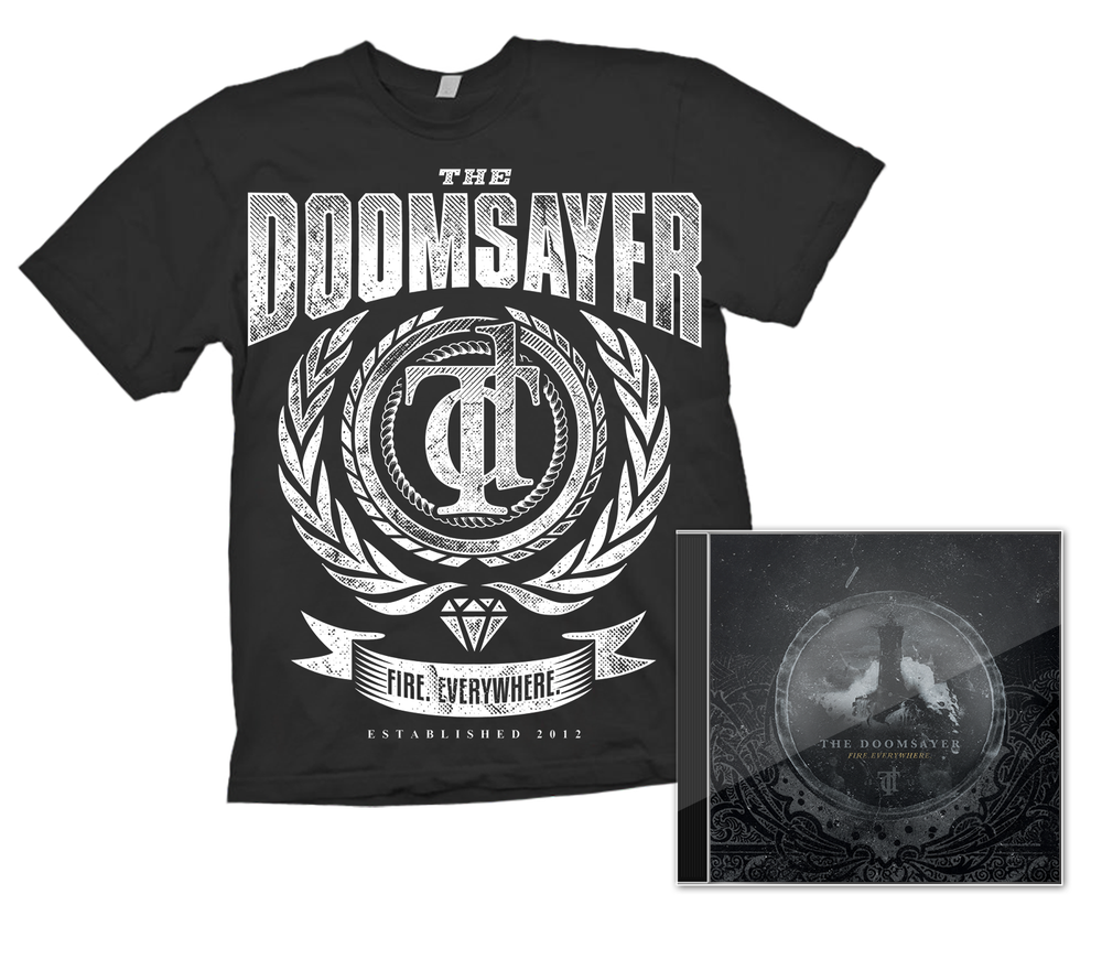 "Image of ""Fire.Everywhere"" - Album + T-shirt Bundle"